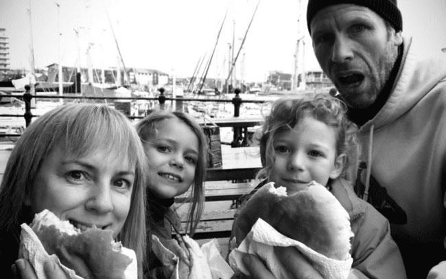 Debra Searle - Debra with her family