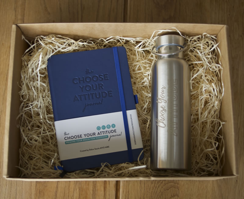 Debra Searle - Choose Your Attitude Journal and Water Bottle
