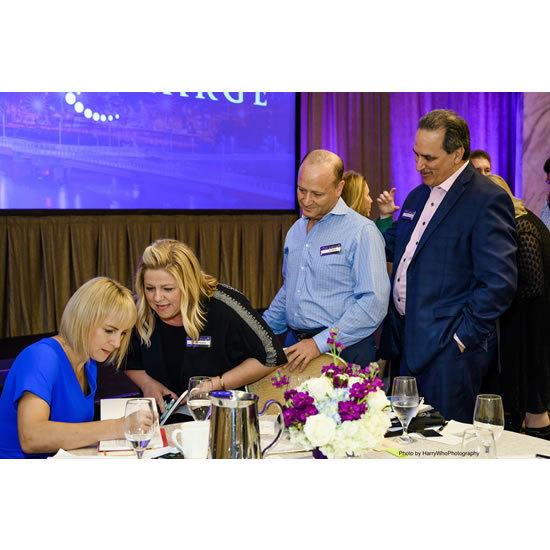 Debra Searle - Signing books at The Ritz, Philadelphia