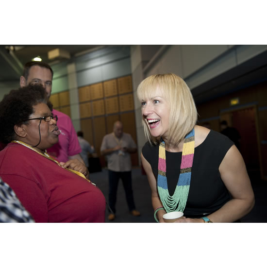 Debra Searle - Laughing with delegates
