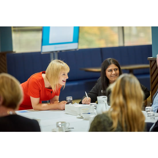 Debra Searle - Talking to delegates