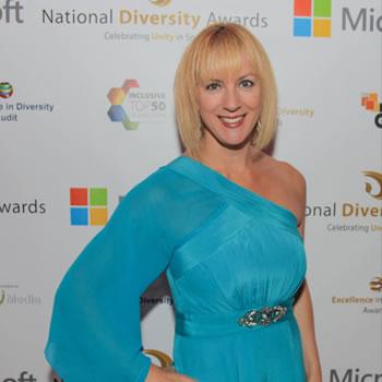 Debra Searle - At the National Diversity Awards 2015